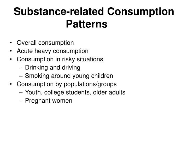 Substance-related Consumption Patterns