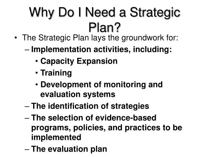 Why Do I Need a Strategic Plan?