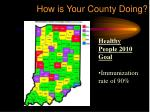 how is your county doing