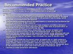 recommended practice17
