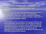 recommended practice37
