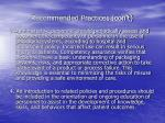recommended practices con t