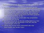 recommended requirements con t11