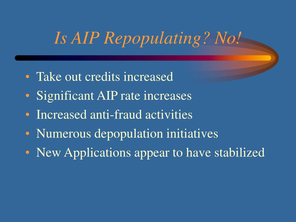 Is AIP Repopulating? No!