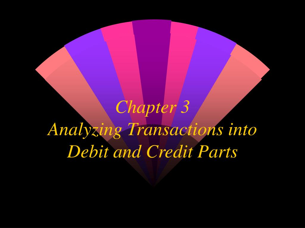 chapter 3 analyzing transactions into debit and credit parts l.