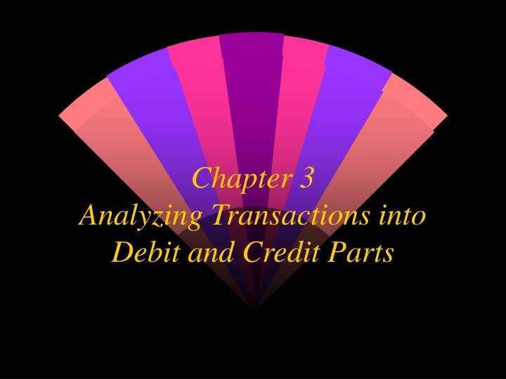 chapter 3 analyzing transactions into debit and credit parts n.