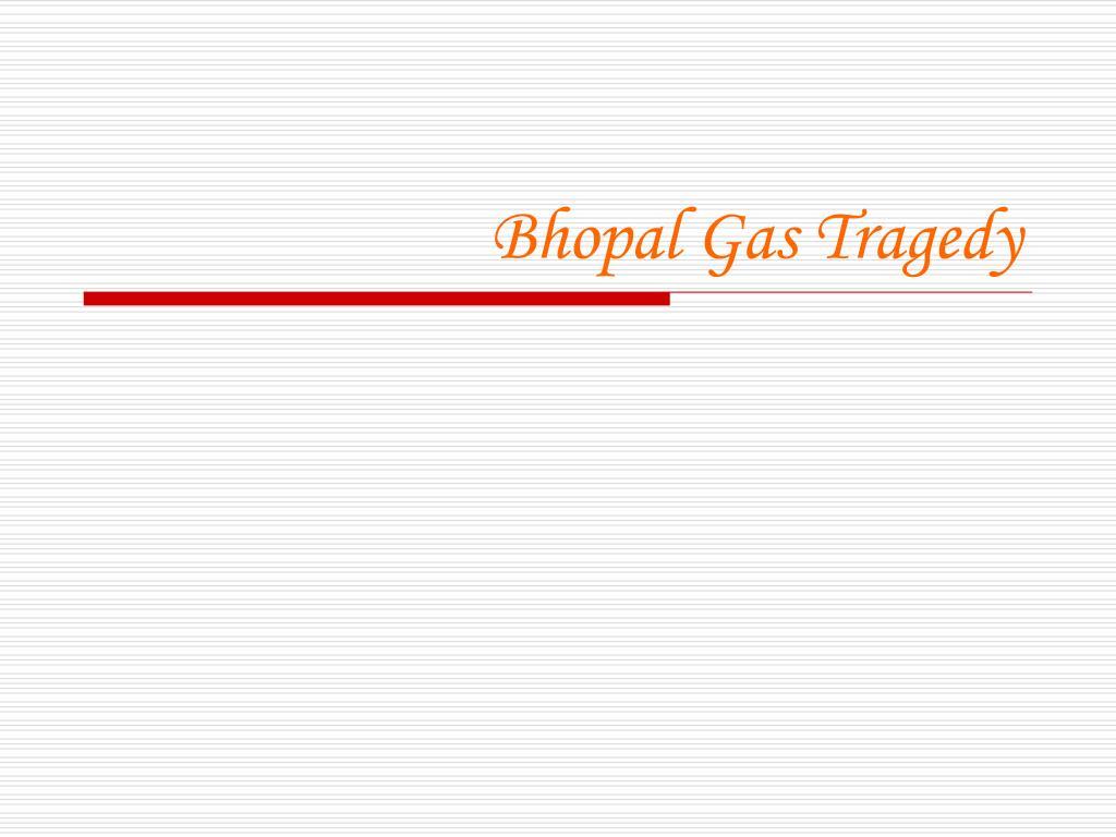 bhopal gas tragedy l.