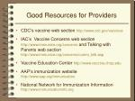 good resources for providers