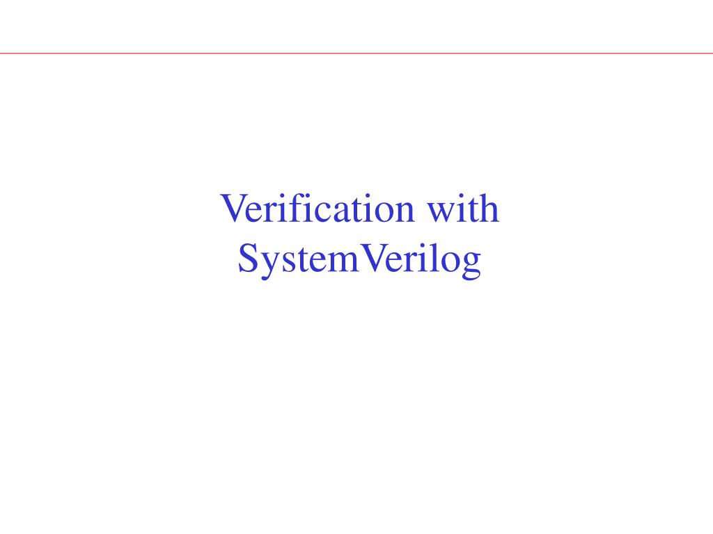 Verification with