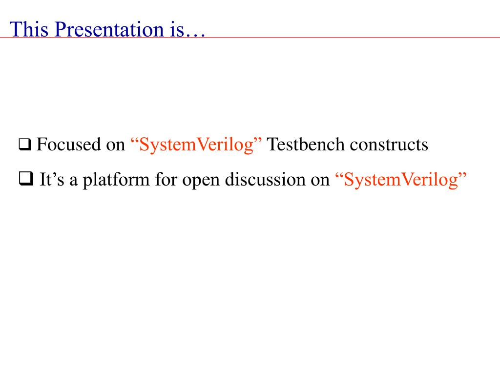 This Presentation is…