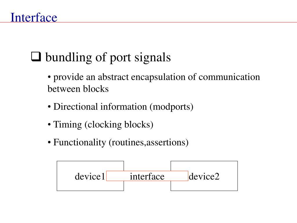 bundling of port signals