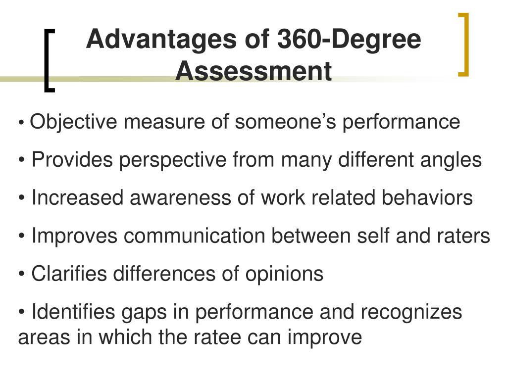 Advantages of 360-Degree Assessment