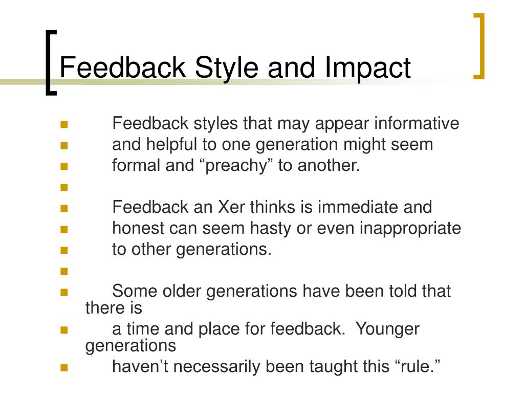 Feedback Style and Impact