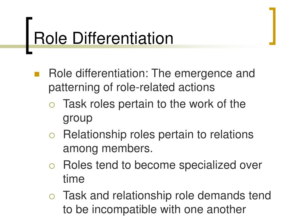 Role Differentiation