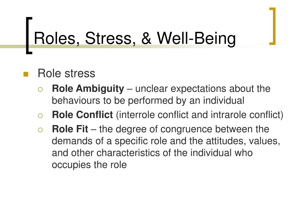 Roles, Stress, & Well-Being