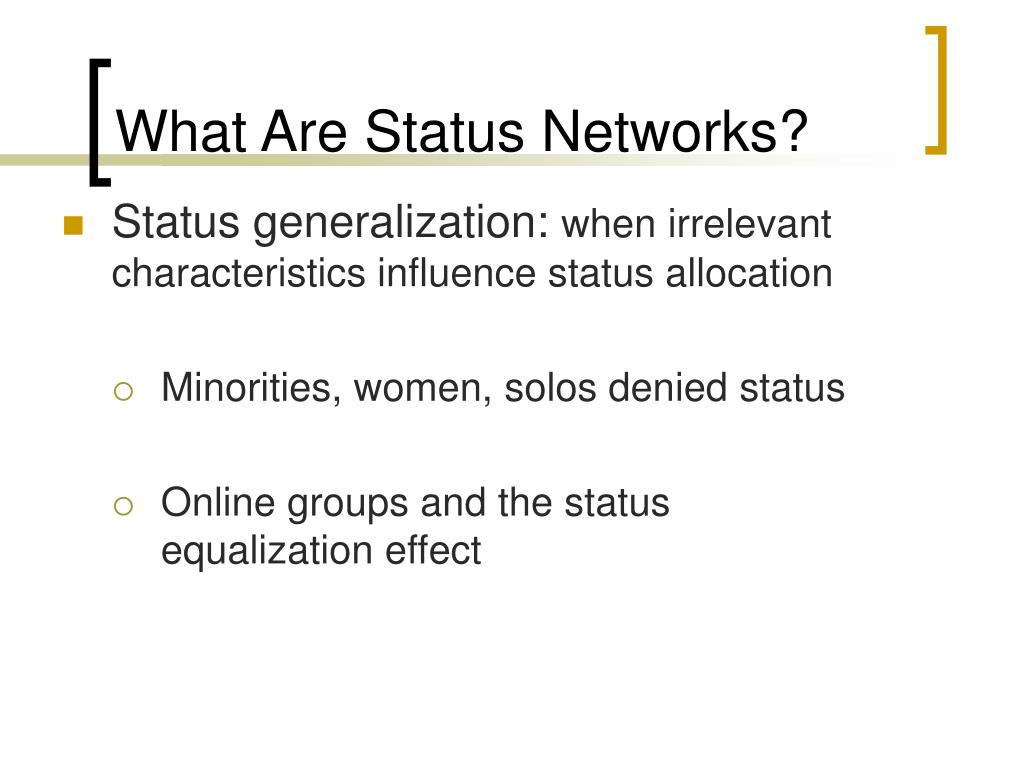 What Are Status Networks?