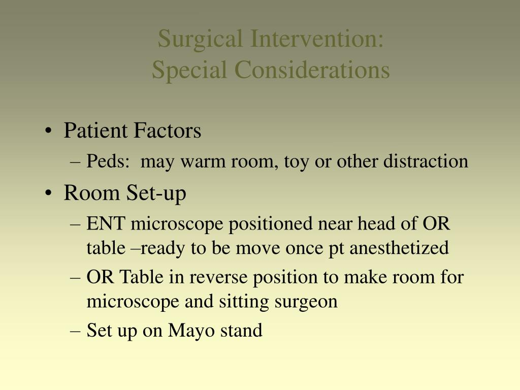 Surgical Intervention: