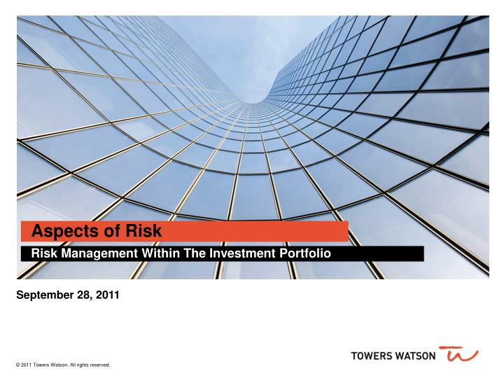 Aspects of risk