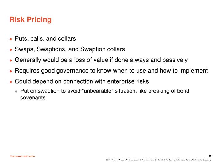Risk Pricing