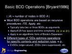 basic bdd operations bryant1986