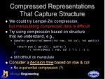 compressed representations that capture structure