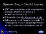 dynamic prog circuit libraries