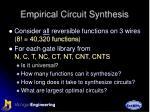 empirical circuit synthesis