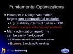 fundamental optimizations