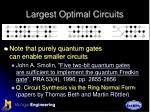 largest optimal circuits