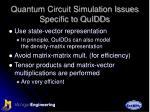 quantum circuit simulation issues specific to quidds