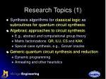 research topics 1