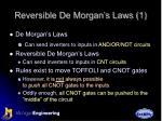 reversible de morgan s laws 1