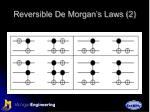 reversible de morgan s laws 2