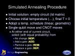 simulated annealing procedure