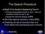 the search procedure