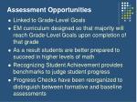 assessment opportunities