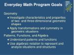 everyday math program goals10
