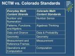 nctm vs colorado standards