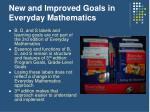 new and improved goals in everyday mathematics