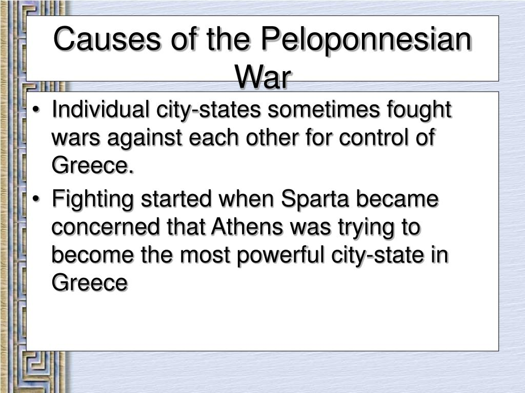 Individual city-states sometimes fought wars against each other for control of Greece.