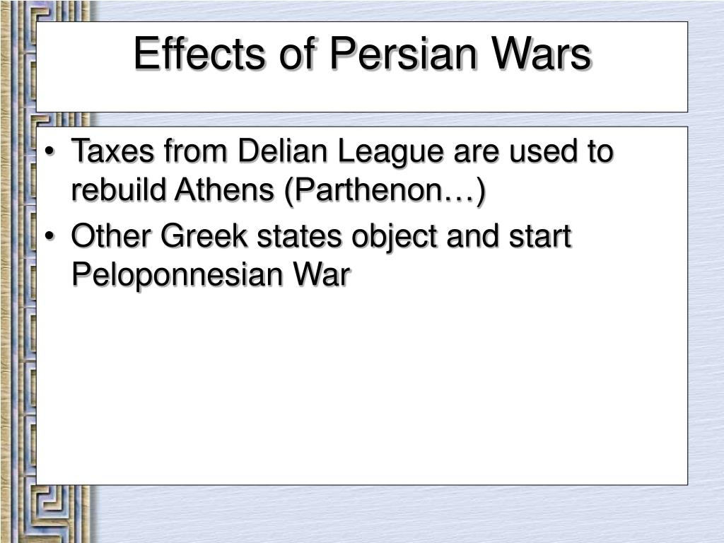 Taxes from Delian League are used to rebuild Athens (Parthenon…)
