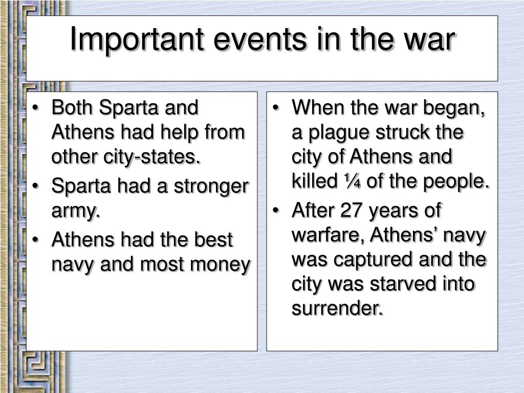 Both Sparta and Athens had help from other city-states.