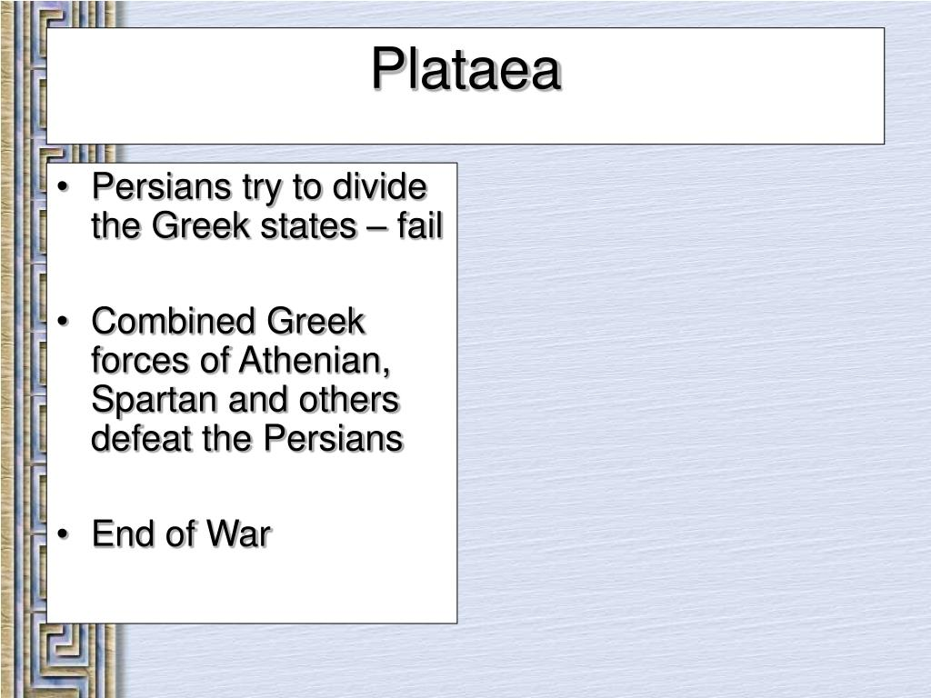 Persians try to divide the Greek states – fail
