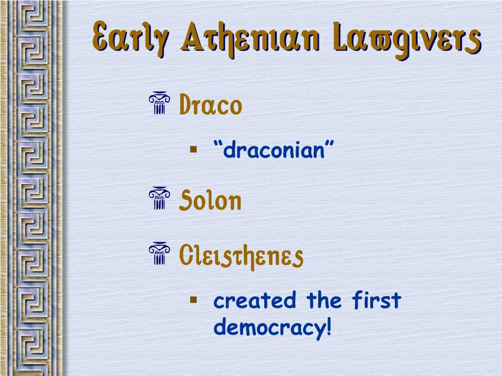 Early Athenian Lawgivers
