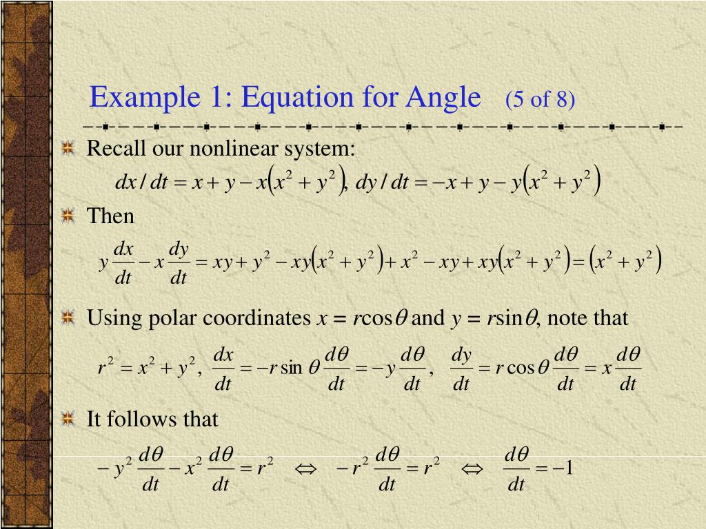 Example 1: Equation for Angle