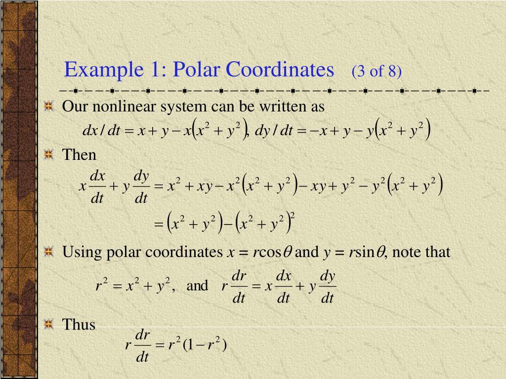 Example 1: Polar Coordinates