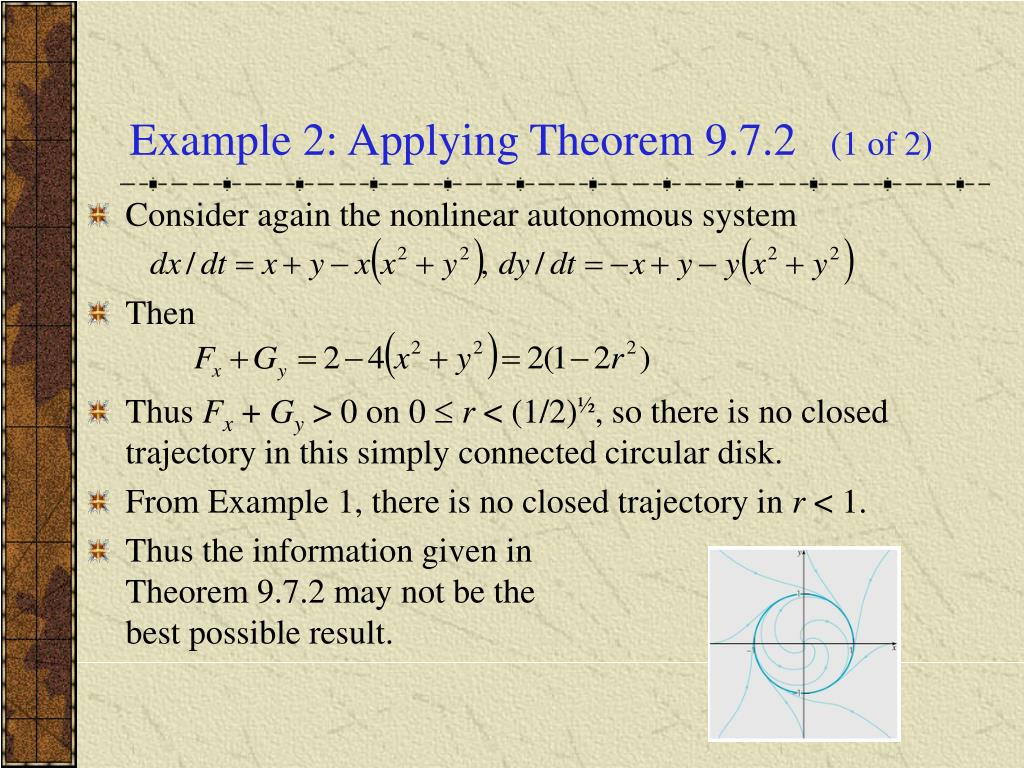 Example 2: Applying Theorem 9.7.2