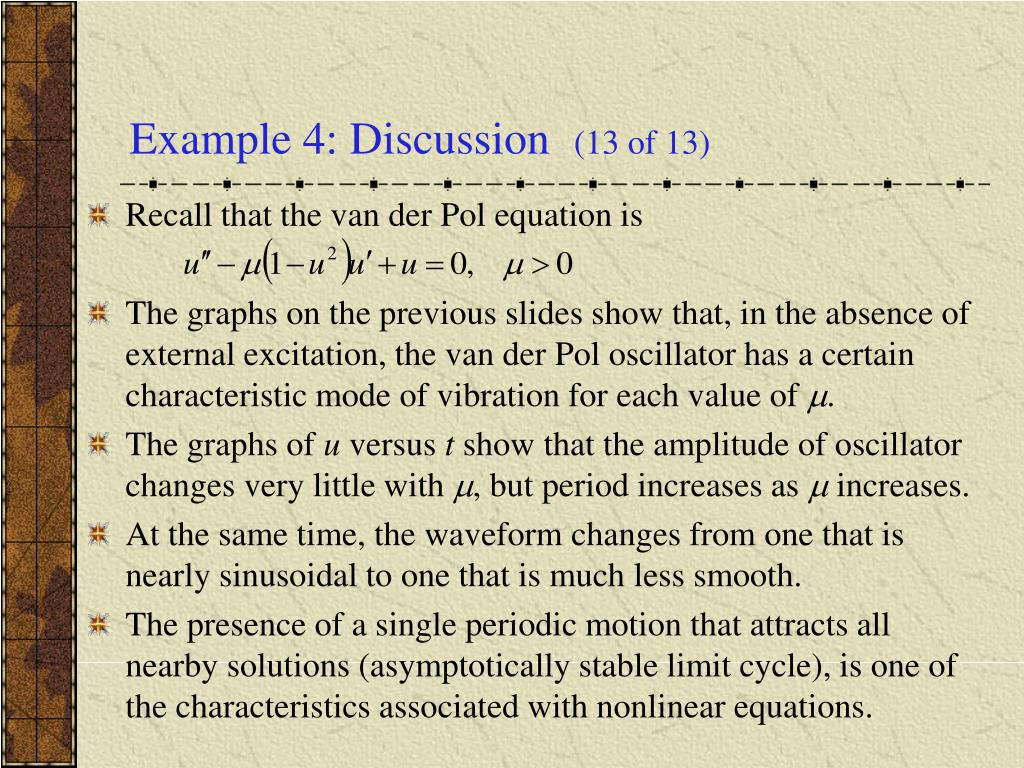 Example 4: Discussion