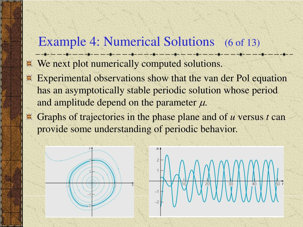 Example 4: Numerical Solutions