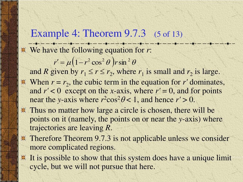 Example 4: Theorem 9.7.3
